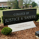 Sign Marking the College of Justice and Safety